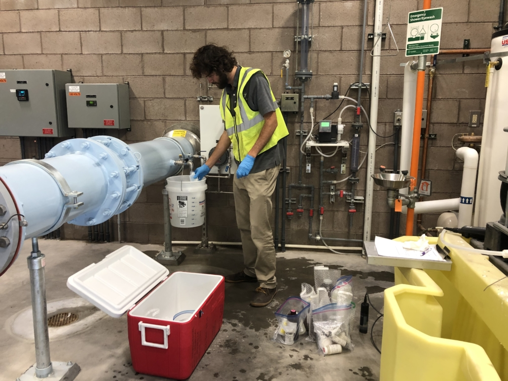 DBS&A sampled water that was a mixture of the injected recharge source water and native groundwater, recovered from well ASR-01 at the Water Authority's DWTP for a list of 21 PFAS.